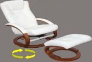 Fauteuil de relaxation avec repose pieds séparé et assorti - Hauteur :104 cm - Largeur :  66cm
