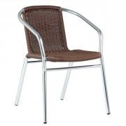 Fauteuil de terrasse empilable en aluminium - Hauteur d'assise : 44 cm
