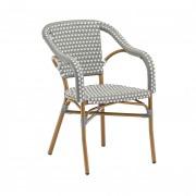 Fauteuil de terrasse tressé MONZA - Usage : Extérieur - Matière : aluminium - Dimensions ( L x p x h ) : 56 x 51 x 80 cm
