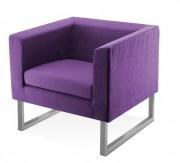 Fauteuil en tissu - Hauteur d'assise : 375 mm
