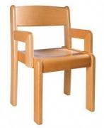 Fauteuil enfant bois - 2 hauteurs d'assise : 18 ou 22 cm
