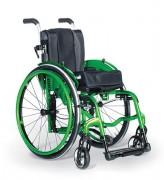 Fauteuil manuel roulant léger - Pliant - Châssis en aluminium - Capacité : 125 kg