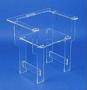 Fauteuil plexi - Dimensions: 68 x 58 x 68 cm