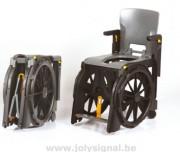 Fauteuil roulant pliable de douche et toilettes - Fauteuil à assise confortable et accoudoirs escamotables