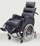 Fauteuil roulant manuel PMR à 6 roues - Fauteuils roulants à châssis 6 roues avec amortisseurs
