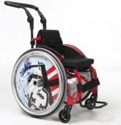 Fauteuil roulant PMR pour pratique sportive - Fauteuil roulant à dossier rabattable et réglable