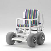 Fauteuil roulant pour plage - Transport de personnes handicapées sur un sol mou