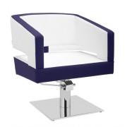 Fauteuil salon de coiffure - Base carré en inox, pompe hydraulique - 52 nuanciers