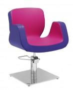 Fauteuil salon de coiffure design - Dimensions du fauteuil (L x P x H) : 65 x 69 x 79/96 cm