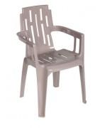 Fauteuil terrasse bar à assise ajourée - Dimensions (L x P x H) cm : 44.5 x 56 x 80