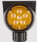 Feu de signalisation solaire clignotant pour routes - Matériaux : Polycarbonate / Aluminium - Consommation énergétique nulle