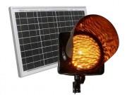 Feu orange clignotant solaire - 95 Leds haute intensité ambres