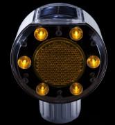 Feu solaire LED flash de signalisation routière - Matériau : Polycarbonate - Consommation énergétique nulle