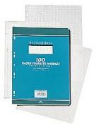 Feuillets mobiles 21x29,7 cm 100 pages grands carreaux blancs 90g – Sous étuis CONQUERANT SEPT - CONQUERANT 7