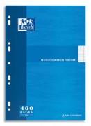 Feuillets mobiles 21x29,7cm 200p grands carreaux blancs 90g – Sous étuis carton - oxford