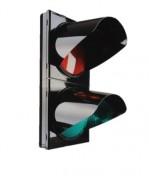 Feu bicolore avec ou sans télécommande  - Boitier polycarbonate avec optique LED Ø200mm