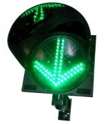 Feux d'affectation de vois à Leds - 2 signaux a leds : croix rouge + flèche verte