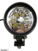 Feux de travail orientables LED - Fixation : Vis