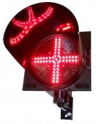 Feux signal croix rouge - Ø200 ou Ø260 mm