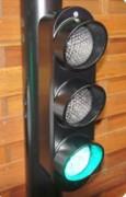 Répétiteur voiture à LED anti vandalisme  - Signal répétiteur 3 feux de Ø100mm en fonte d'aluminium