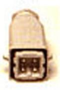 Fiche mâle 4 pôles F305 - Connecteurs fer