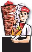 Figurine stop trottoir kebab - Dimensions (cm) : 60 x 156
