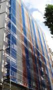 Filet d'échafaudage pour travaux de façade courants - Tricoté micro maille