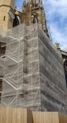 Filet d'échafaudage pour travaux sur monuments historique - Filet pare-gravats