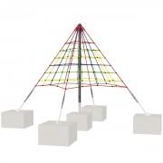 Filet d'escalade pyramide - Diamètre du jeu (mm) : 4500