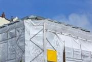 Filet de protection échafaudage - Largeur : 307 cm x 50 m soit 153.5 m² 130 gr/m²