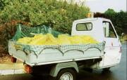 Filet noué pour benne de camion - Mailles carrées (mm) : 55