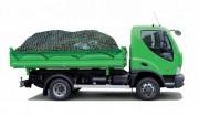 Filet protection benne camion - Tressé - Mailles carrées 35 mm - Vert