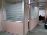 Film decoratif à bandes dépolies - Adapté au cloisonnement et pour séparation de bureaux