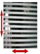 Film décoratif à bandes horizontales pour vitre
