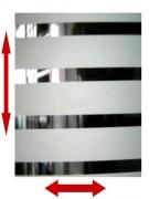 Film décoratif bandes blanches et transparentes pour vitre - Bandes blanches 28 mm bandes transparentes 7 mm