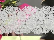 Film électrostatique dentelle - 3 types : rose dentelle, vigne ou tissage beige