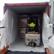 Doublure de protection conteneur - Doublure en film Polypro tissé - Film PE étanche