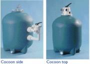 Filtre à sable pour piscine privée - Pression service : 2 bars - Pression d'essai : 3 bars