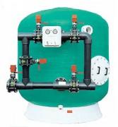Filtre pour piscine - Pression de service : 2,5 bars – 37,5 PSI - A sable polyester et fibre de verre.