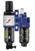 Filtre régulateur lubrificateur - Pression (maxi en bar) : 12 - Débit maximum (l/mn) : De 500 à 2800