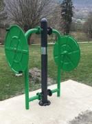 Gouvernail pour PMR - Appareil de fitness de plein air type mobilisation articulaire haut du corps