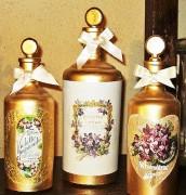 Flacon de parfum ancien - Hauteur : 28 et 16 cm