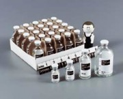 Flacon stérile en verre avec large étiquette - 7761-10-cs