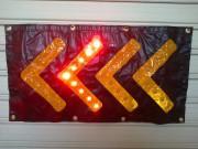 Flèche directionnelle lumineuse à leds - Dimensions (Lxl) mm : 800 x 400