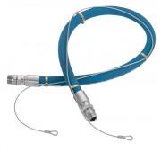Flexible de liaison avec câble de sécurité - Raccordements mâles tournants
