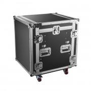 Flight case régie rack 19´´ pour console plan incliné - 2 modèles proposés : Hauteur 12U/ Hauteur 16U