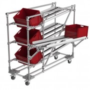 Flow rack Lean Manufacturing - Hauteur : 1500 mm - Largeur : 900 mm - Profondeur : 1600 mm