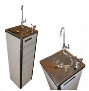Fontaine à eau en acier inox sur réseauDistributeur eau en acier inox sur réseau - Débit : 25 litres/heure