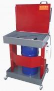 Fontaine de dégraissage à solvant mobile - Pour fût de 20 à 60 L - Surface de travail : 725 x 540 mm
