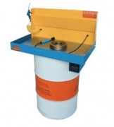 Fontaine dégraissage pièces mécaniques sur fût - Surface de travail : 830 x 500 mm